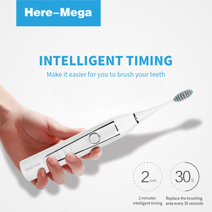 Image 5 - HERE MEGA Electric Sonic Toothbrush USB Rechargeable Electronic Automatic Cleansing Brush Head Ultrasonic Whitening Teeth Adult