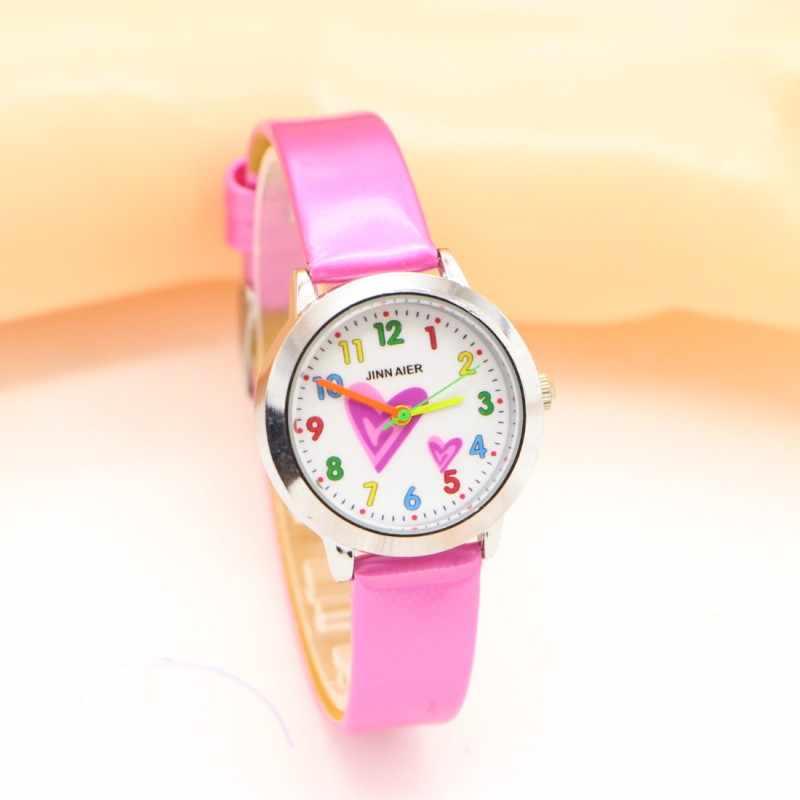 Nowe mody serce kreatywne zegarki dzieci student dzieci zegarek dziewczęcy Casual kwarcowy damski zegarek na rękę Relojes Montres kol saati