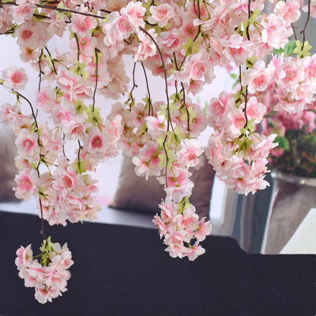 Online shop 140cm natural vertical silk cherry blossom for wedding 20170401155311020 junglespirit Image collections