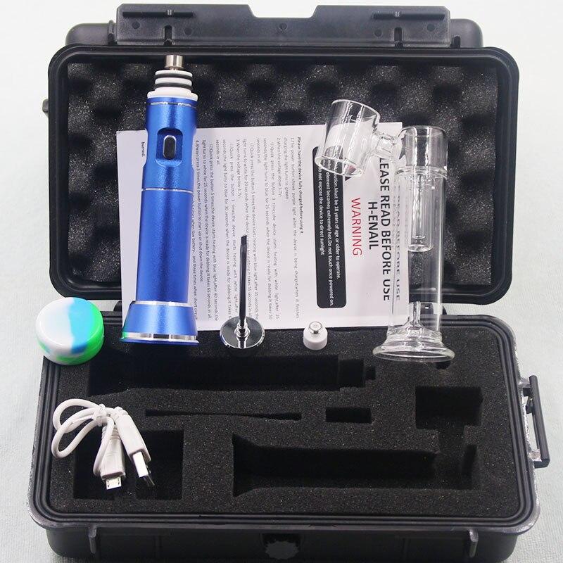 Appareil de montage de henail de stylo de cire G9 portatif électrique coloré avec l'attachement de bulle de verre d'ongle de titane de quartz E clou