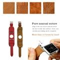 1:1 Оригинальное качество Натуральная Кожа Манжеты Браслет Кожаный Ремешок для Apple Watch манжеты 38 мм и 42 мм