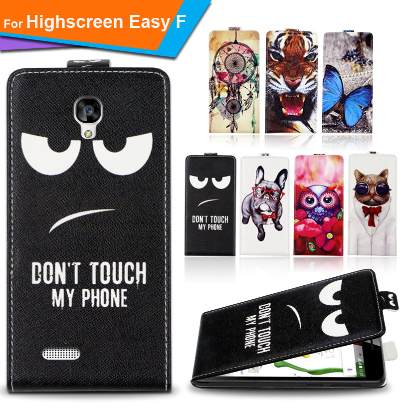Newest For Highscreen Easy F Factory Price Luxury Cool Printed Cartoon 100% Special PU Leather