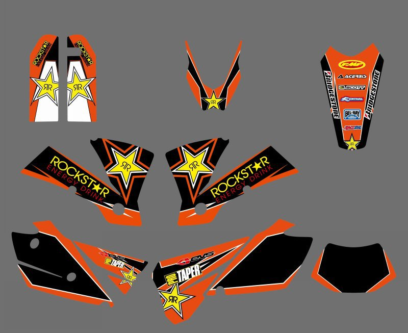 new style 0430 Star TEAM GRAPHICS BACKGROUNDS DECALS Sticker For KTM EXC 125 200 250 300
