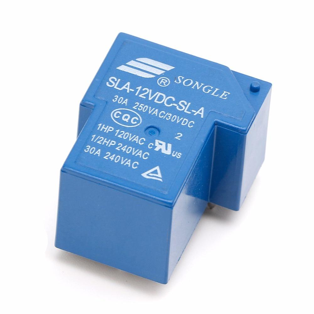 US Stock 2pc T90 Coil Relay 12VDC 30A 250VAC 30VDC 4 pin SLA-12VDC-SL-A PCB Type