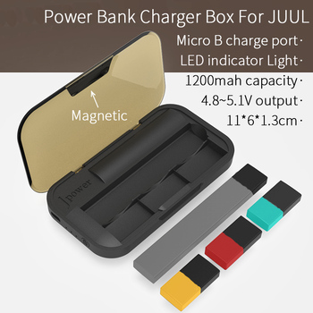 Portable 1200mah Power Bank Charger Box For JUUL Charging Case Storage Holder with Led Indicator Light And Magnetic Cover резак для щеток стеклоочистителей