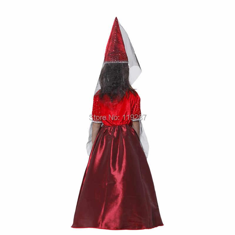 BARU cosplay Sihir penyihir kostum Natal Halloween kostum Anak Cute Girl Princess Dress