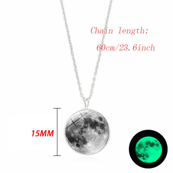 Glow Dark Moon Necklace 1