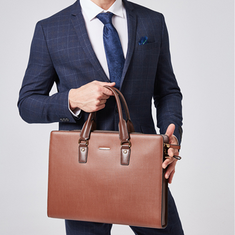 Bostanten Business Men Genuine Leather Briefcase Laptop 16 Inch Men Briefcase Bag Male Shoulder Bag Crossbody Bag Tote Handbag