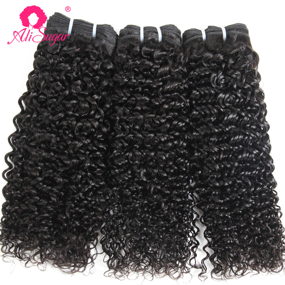 Hair Extensions & Wigs Enthusiastic Ali Sugar Hair Brazilian Kinky Curly Remy Human Hair 8-28 Inches 3/4 Bundle Deals Natural Color Free Shipping Attractive And Durable Human Hair Weaves