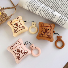 For Airpods 2 Case Silicone Koala Cookies Cartoon Cover for Apple Air pods Cute Headphone Earphone C