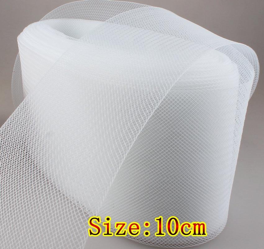 4 10cm Flat Stiff Plain Crins Horse braid For Women Hat mesh 100yard lot 2Color