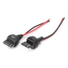 2pcs 7440 992 T20 Male Adapter Wiring Harness DRL Turn Signal Tail Lamp Retrofit