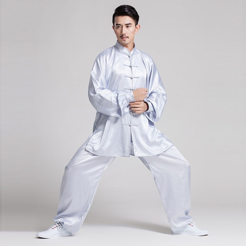 Martial Art Uniform Traditional Kung Fu Costumes Tang Suit Long Sleeve Wushu Wear Sets Chinese Nation Taekwondo Performance