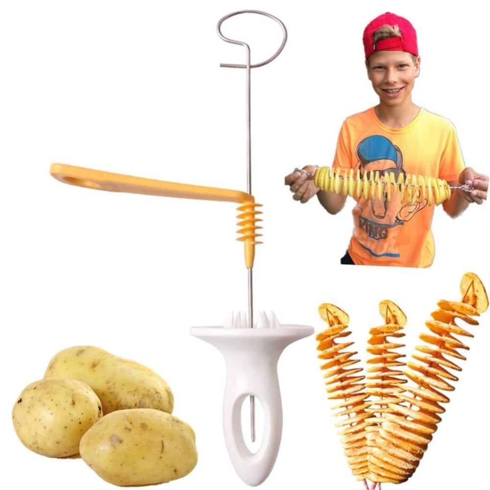 Vegetable Fruit Spiral Slicer Models Cutter Shredder For Cooking Chips Stainless Steel Kitchen Tools Accessories Gadgets