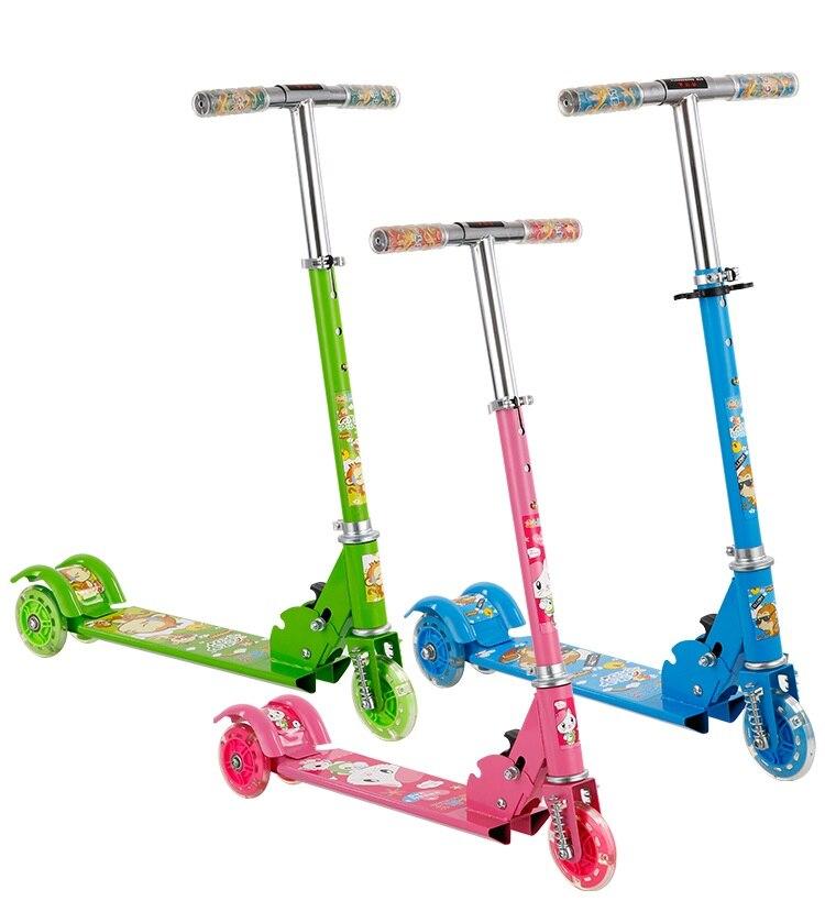 Rouler sur les voitures réglable Kick Scooter pour enfants pliable impression 3 roues en plein air Sport ride sur les voitures jouets pour enfants enfants