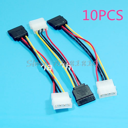 цены  10Pcs/lot 3 IDE to Serial ATA SATA Hard Drive Power Adapter Cable -R179 Drop Shipping