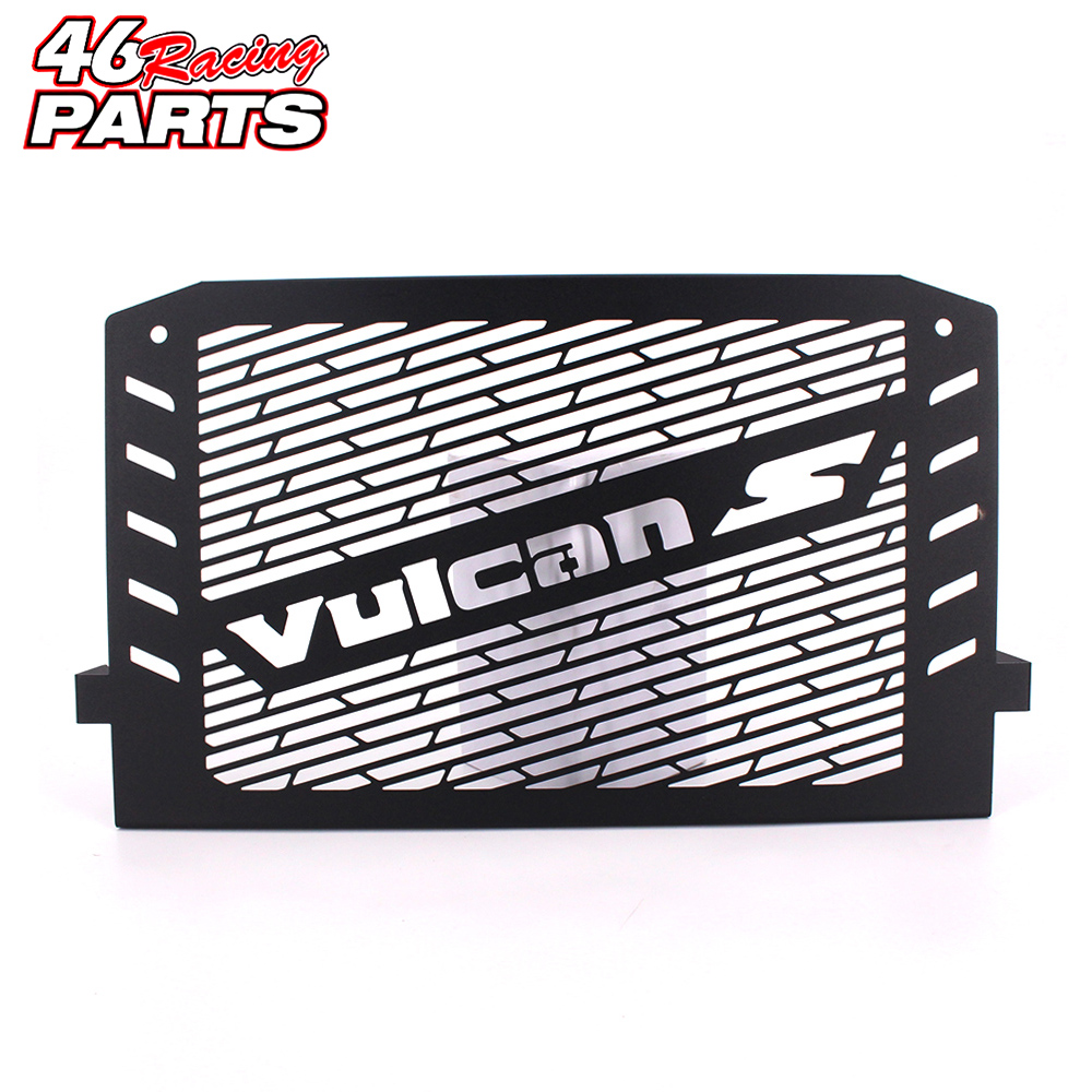 Black Motorcycle Accessories Radiator Guard Protector Grille Grill Cover For Kawasaki VULCAN S 15-16 VULCAN 650 Free shipping stainless steel radiator frame grill grille cover for kawasaki vulcan vn 1500 1700