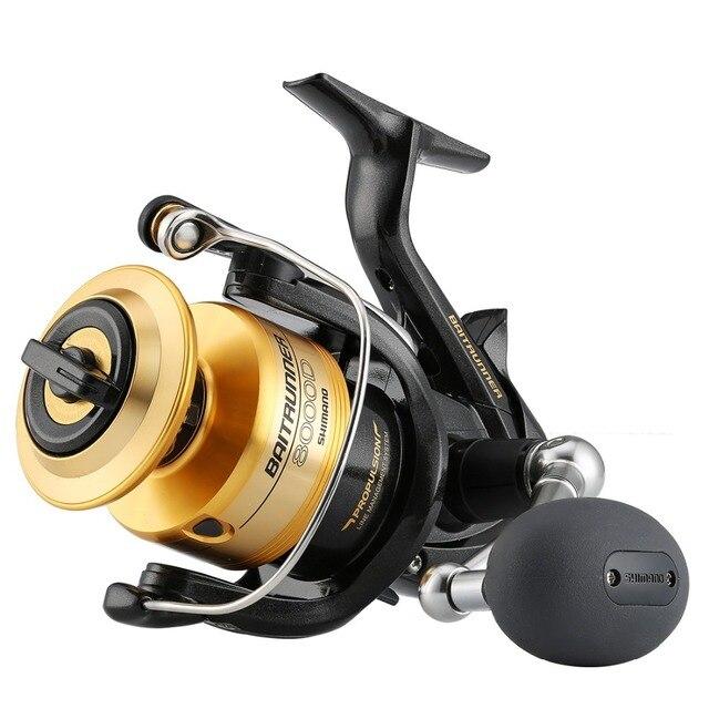 بكرة صيد أصلية Shimano Baitrunner, بكرة صيد شيمانو طراز 4000D 6000D 8000D مقاومة للمياه المالحة نسبة الترس (4.8:1) 3+1 Bearings Fishing 100%