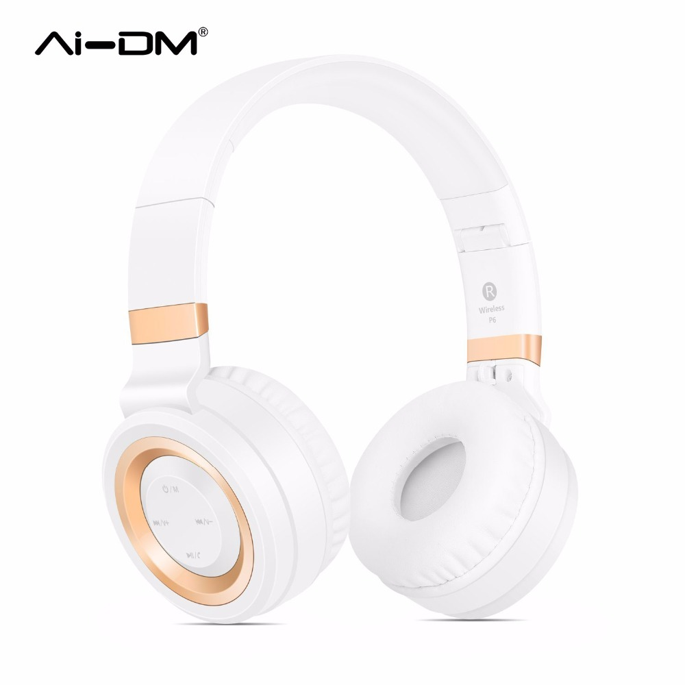 AIDM Bluetooth Over-Ear Foldable Headphones,Hi-Fi Stereo Wireless Headset,Support TF Card FM Radio Comfortable Wearing Earphone new modern white red 65cm big bang suspension light pendant lamp bedroom dining room droplight fixture chandelier free shipping