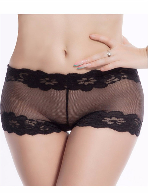 5190dad43465c D29 Hot sale intimates black white lace underwear hollow out sexy design woman  panties plus size mid waist boxer femme