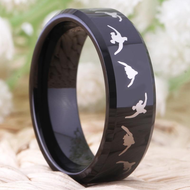 Моден волфрамов сватбен пръстен за - Модни бижута - Снимка 5