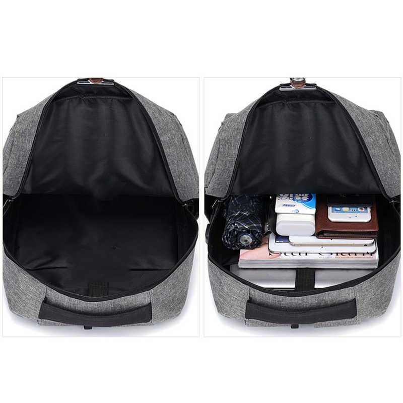 New USB backpack for teen boys 3 pcs / set student bag laptop bags casual travel bag men simple waterproof backpack H230