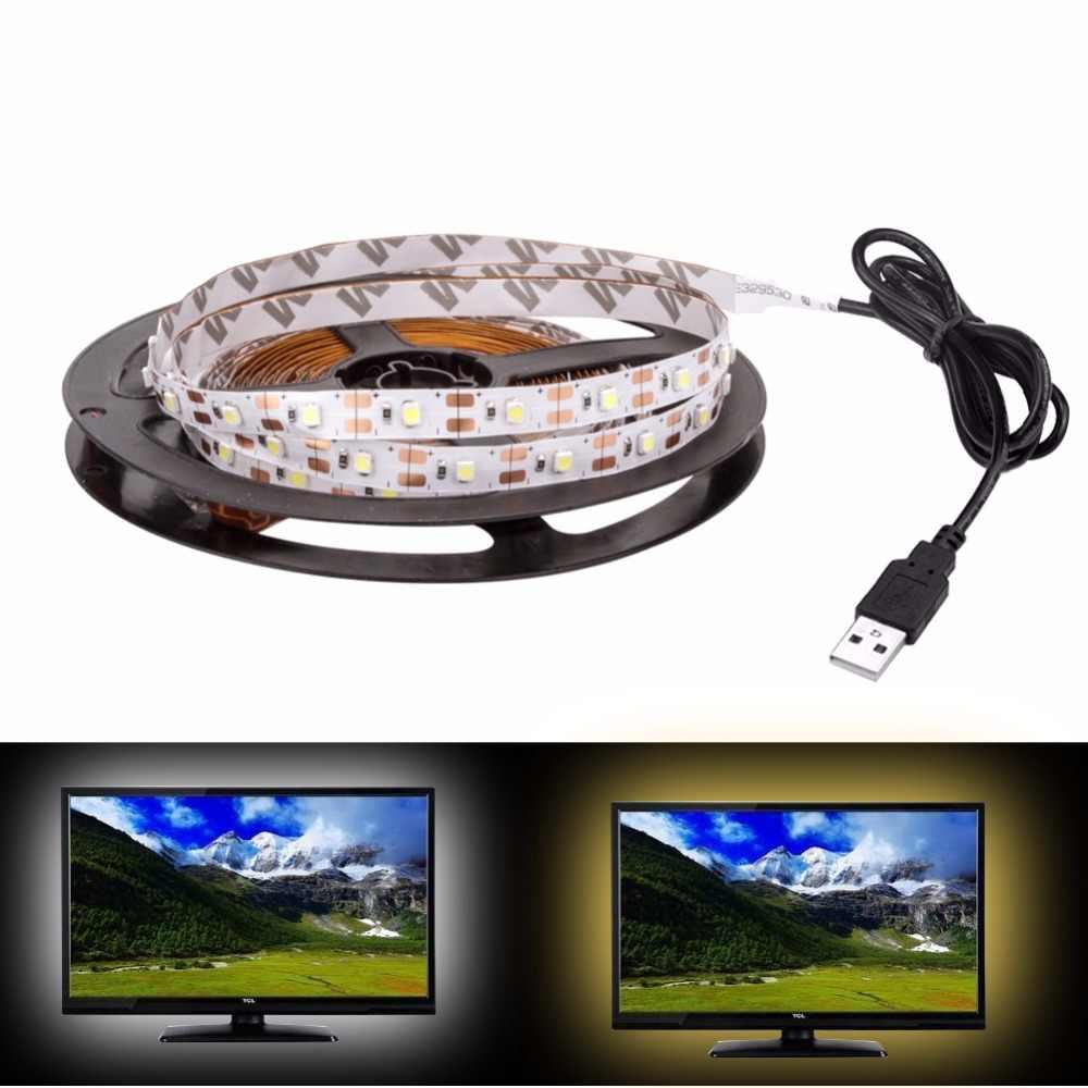 Bande LED usb DC 5V lampe de lumière Flexible 60LED s SMD 2835 50CM 1M 2M 3M 4M 5M Mini 3Key décor de bureau bande TV éclairage de fond