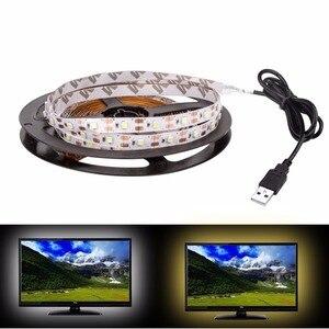Image 4 - Striscia LED USB DC 5V lampada flessibile 60LED SMD 2835 50CM 1M 2M 3M 4M 5M Mini 3Key Desktop Decor Tape TV illuminazione di sfondo