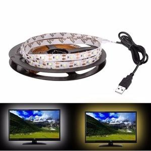 Image 4 - USB LED 스트립 DC 5V 유연한 조명 램프 60LED SMD 2835 50CM 1M 2M 3M 4M 5M 미니 3Key 데스크탑 장식 테이프 TV 배경 조명