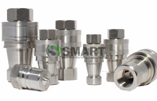 Livraison gratuite 1 set KZF ZG 2 pouces tuyau hydraulique raccord rapide en acier inoxydable connecteur matériel hydraulique coupleur rapide