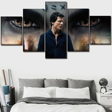 Wall Art Print Poster Framework Home Decor 5 Pieces Movie The Mummy Tom Cruise Poster Canvas Paintings Modern Boys Room Picture tom cruise