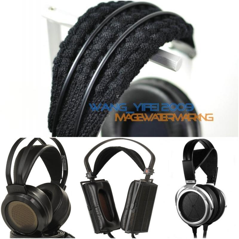 Widened Pure Wool Headband Cushion For STAX SRS 4170 3170 2170 Headphones Headsets Hand Knit