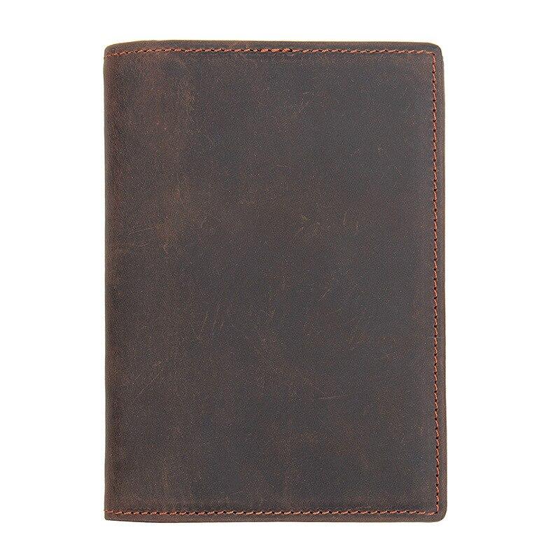Passeport en cuir couvre étui de portefeuille porte-cartes de crédit de banque d'identité de voyage