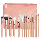 High Quality New Foundation Hot Brush 15 PCS Pro Makeup Brushes Set Cosmetic Complete Eye Kit For Beauty With Bag+ Case