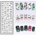 1 лист мода гвозди искусство Stikers передачи вода отличительные знаки для ногтей советы по красоте DS-108