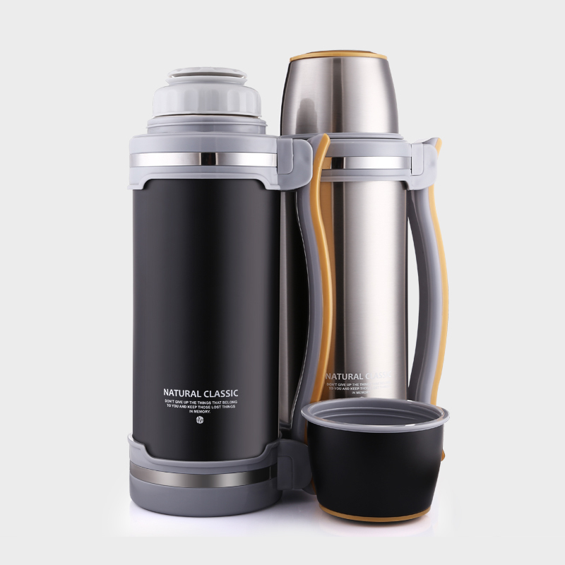 2018 New 2L Stainless Steel Vacuum Flask Vacuum Insulated Flask Stainless Steel with Drinking Mug for