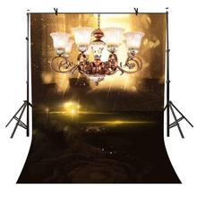 5x7ft Luxury Chandelier Backdrop Dimly-toned Luxury Chandelier Photography Background and Studio Photography Backdrop Props 5x7ft escalator backdrop sunny luxury gold escalator photography background and studio photography backdrop props