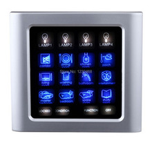 12 sätze/los-120A-KA smart-home-bildschirm touch-schalter für Villa systemsteuerung 48 möglichkeiten der lichter in system(China)