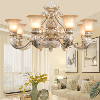 European style chandelier living room lamp garden resin light simple American retro bedroom dining room lamps wall light