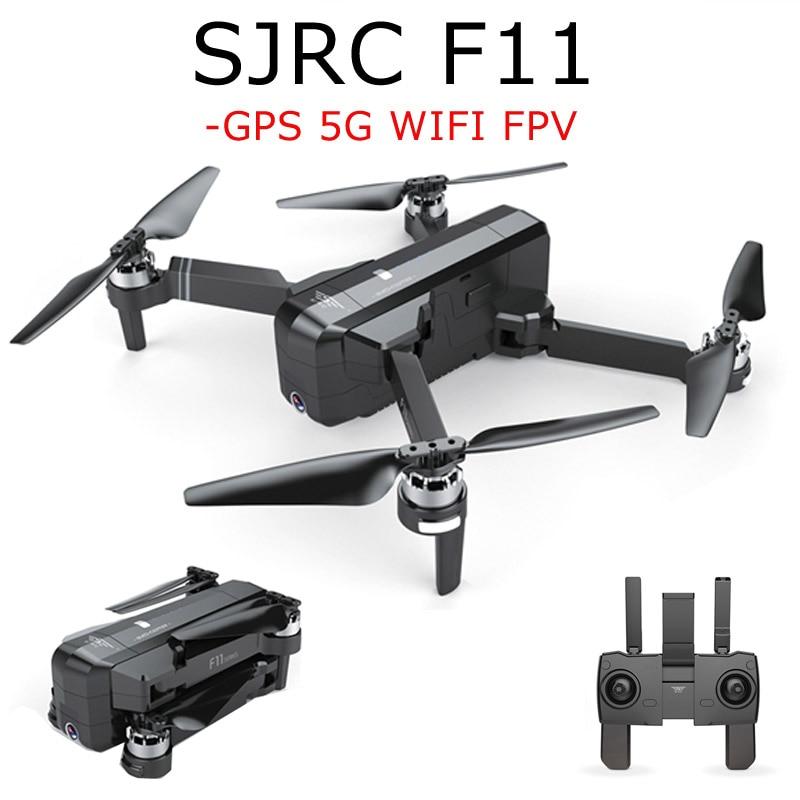 В наличии SJRC F11 gps 5 г Wi Fi FPV системы с P 1080 p камера 25 минут время полета бесщеточный складной рычаг селфи RC Drone Quadcopter