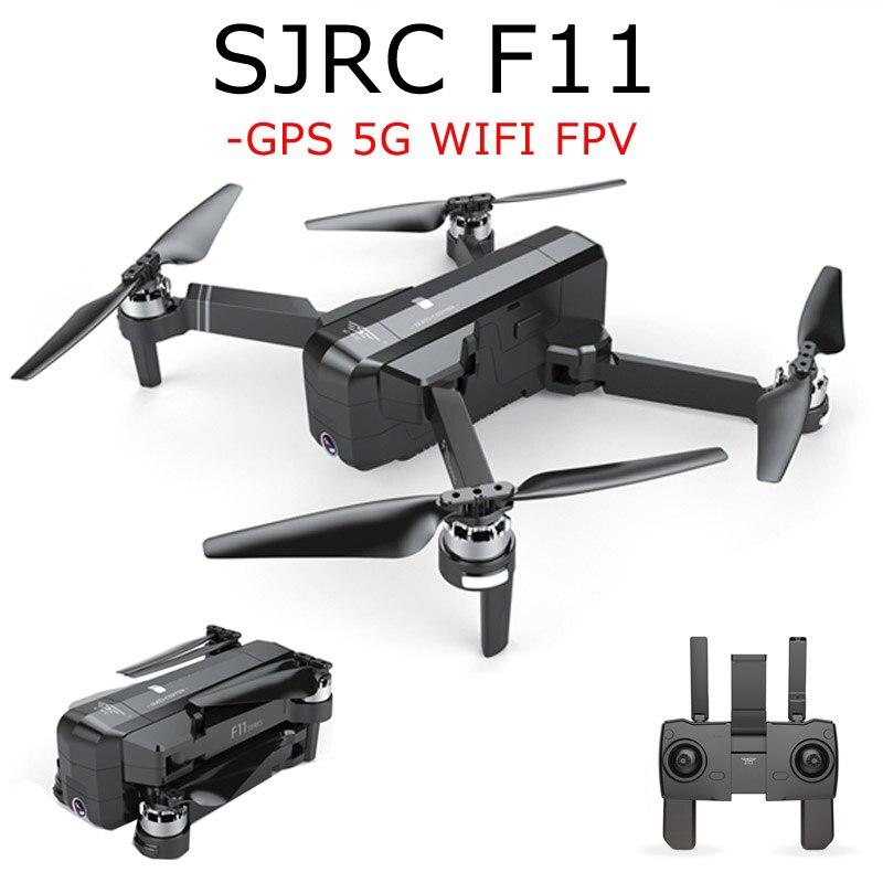 En Stock SJRC F11 GPS 5g Wifi FPV Avec 1080 p Caméra 25 minutes Temps de Vol Brushless Pliable Bras selfie RC Drone Quadcopter