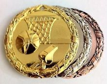 low price Custom medal hot sales Shiny Basketball Medals Ribbon High quality metal sport Gold, silver ,bronze medals  FH810181