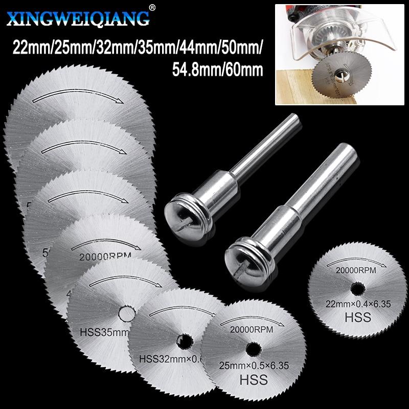 10pcs Circular Saw Blade Rotary Tool For Dre Metal Cutter Power Tool Set Wood Cutting Discs Drill Mandrel Cutoff