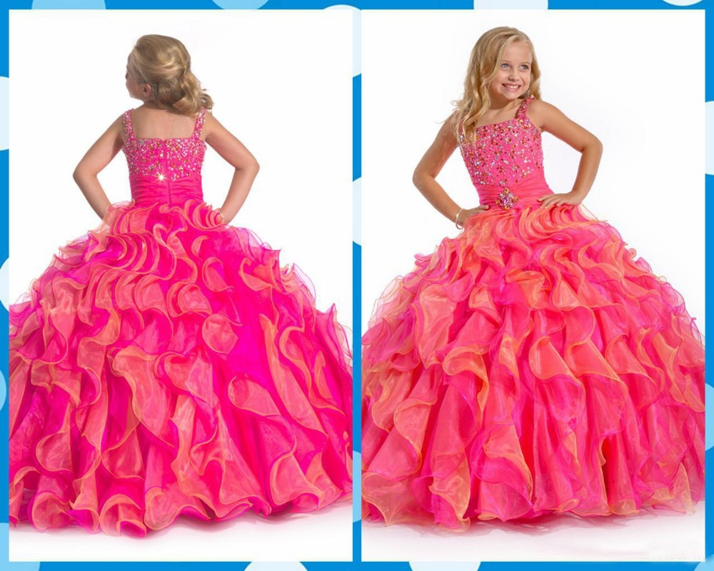 【2016 Sexy Flower Girl Dresses Dresses Girls Pageant