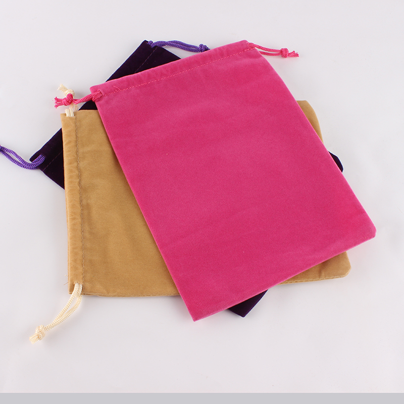 15*20cm Customized Logo Mixed-Color Printed Velvet Drawstring Pouch Packing Bags