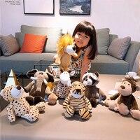 Мультфильм Плюшевый Лес Животные игрушки Слон из енота, лисы Лев Жираф Гепард обезьяна мягкие игрушки куклы дети подарок на день рождения