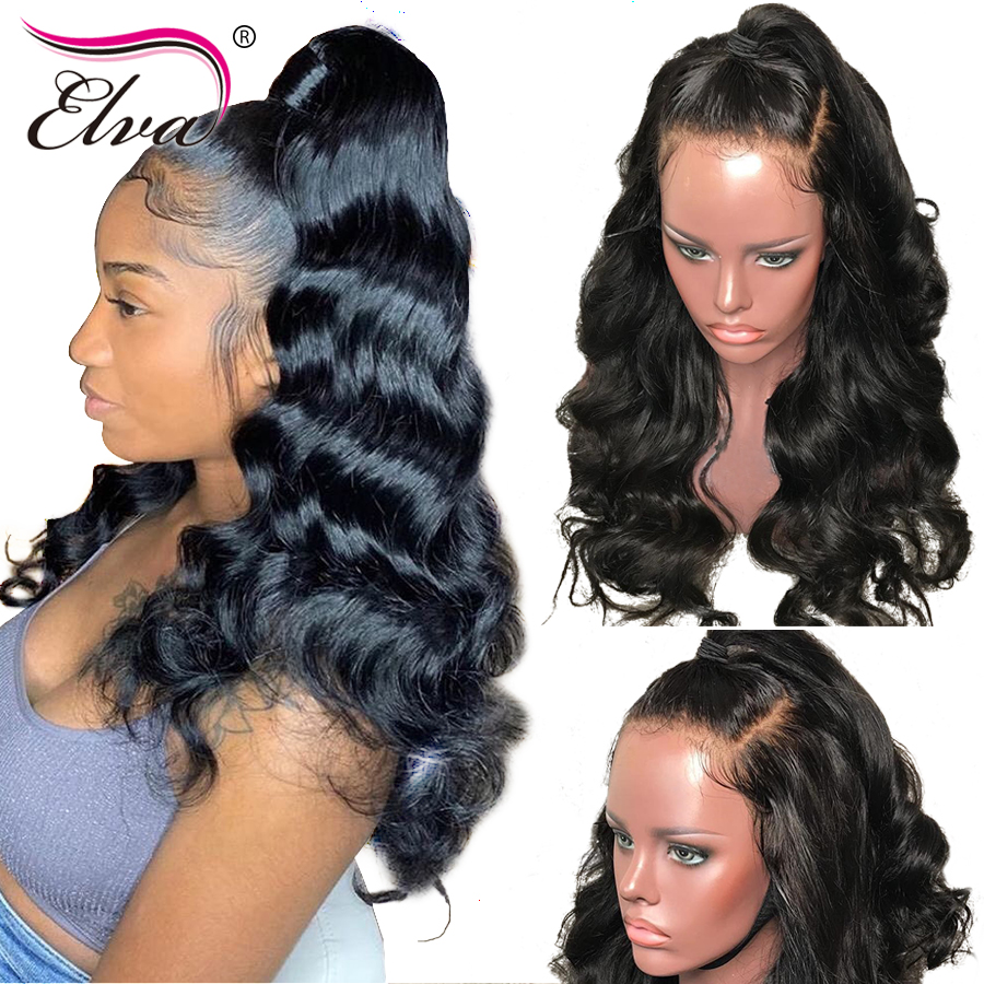 Elva Hair 180 Density 360 Lace Frontal Wig Pre Plucked With Baby Hair 10 24 Body
