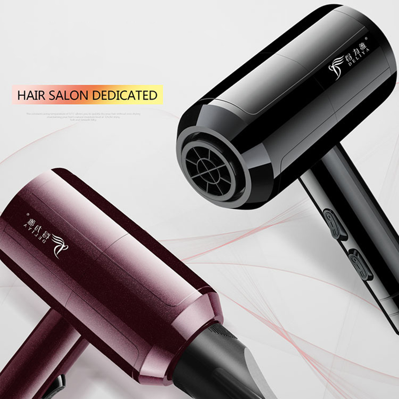 Electric Hair Dryer Professional Powerful Blow Dryer Blower Hot And Cold Wind Hair Salon 220V For Household professional hot cold anion hair dryer hair salon 1900w 220v household high power abs portable electric blower eu plug km 8906