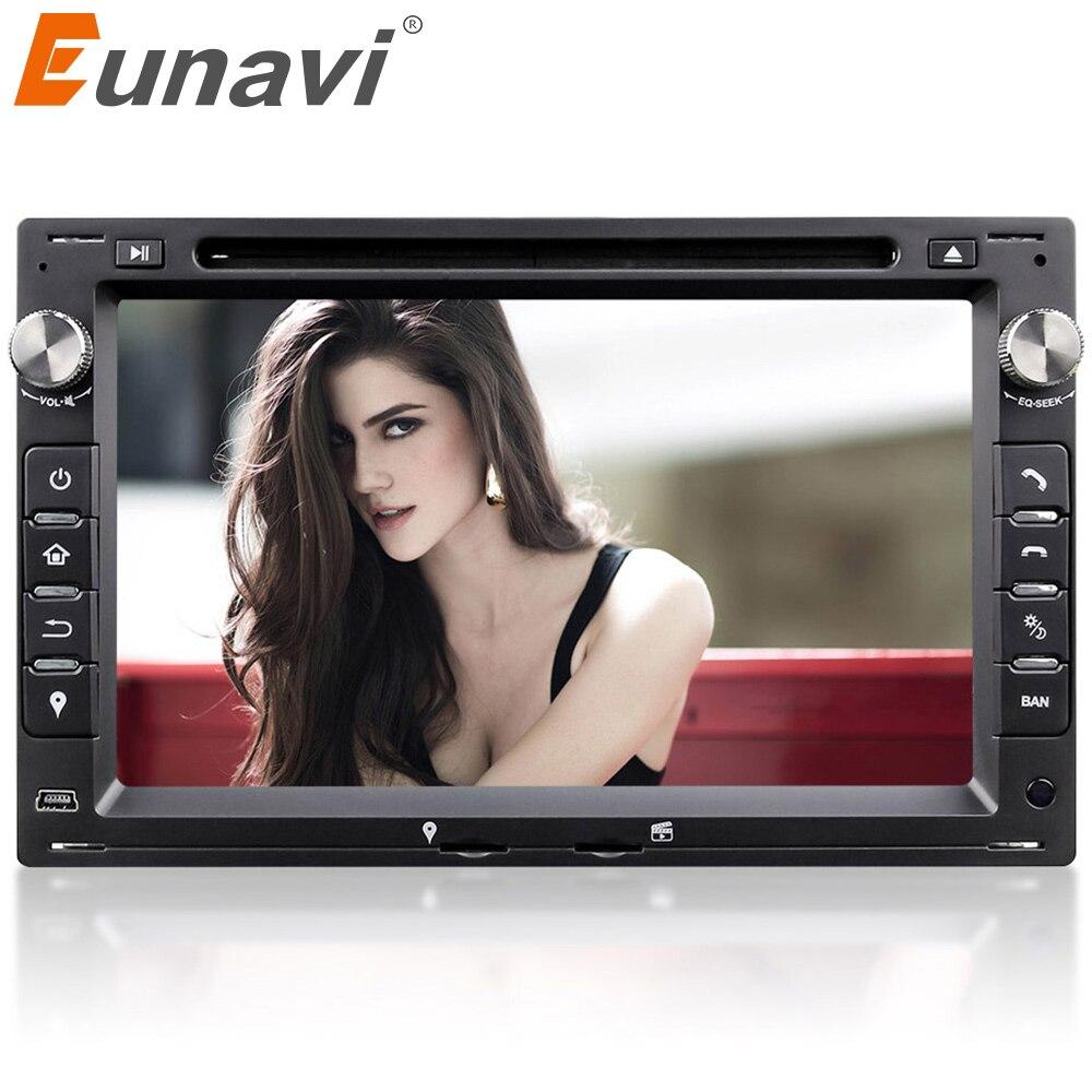 Eunavi 2din lecteur dvd De Voiture navigation gps Pour VW Transporter T5 PASSAT B5 Golf 4 Polo Bora Jetta Sharan 2004 2005 2006 2007 2008