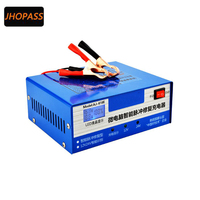 New LCD Display 12V 24V Lead Acid Intelligent Pulse Battery Charger For Car Motorcycle E Bike